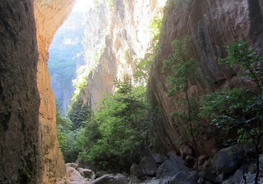 La Garganta Verde, Sierra de Grazalema, Andalusien