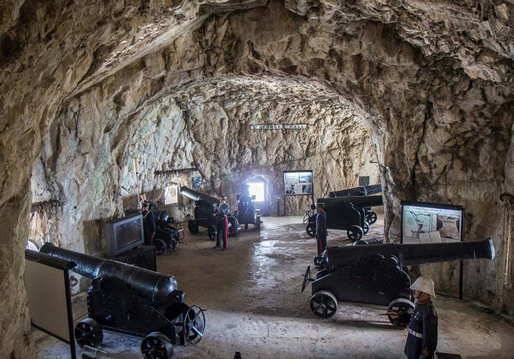 Tagesausflug nach Gibraltar. Great Siege Tunnels
