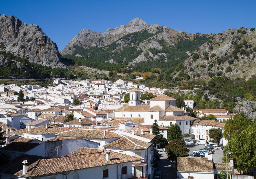 Dorf in der Sierra de Grazalema, Andalusien - Spanien.