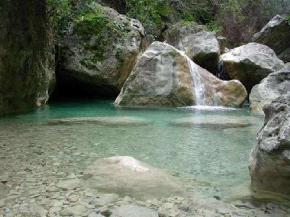 La Garganta Verde in der Sierra de Grazalema, Andalusien - Spanien.