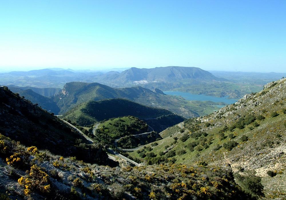 Parapente en El Bosque , Sierra de Grazalema, Andalucía