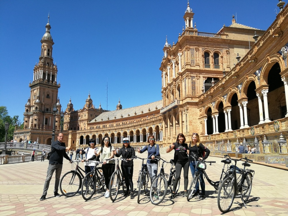 Radtour Sevilla, Plaza de España