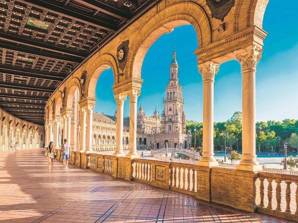 Sightseeing Stadtrundgang Sevilla. Plaza de España