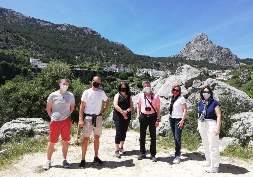 Tourgruppe in Grazalema