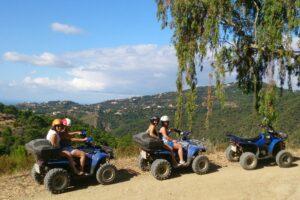 Tagesausflug Quad-Tour, Quadgruppe in der Sierra de Málaga