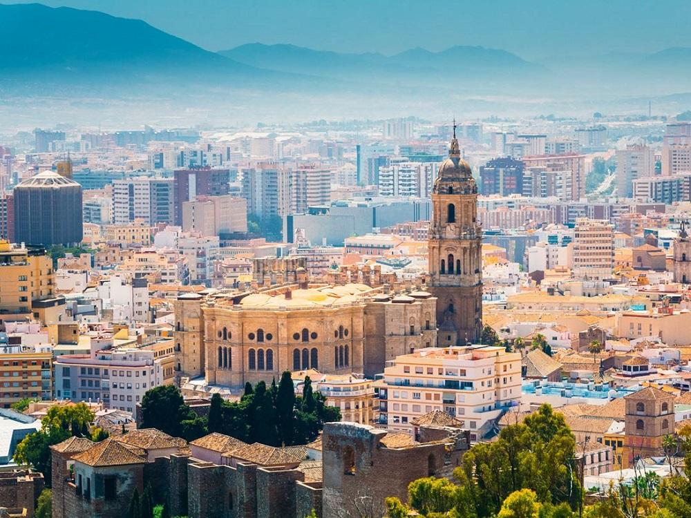 Panoramasicht von Málaga